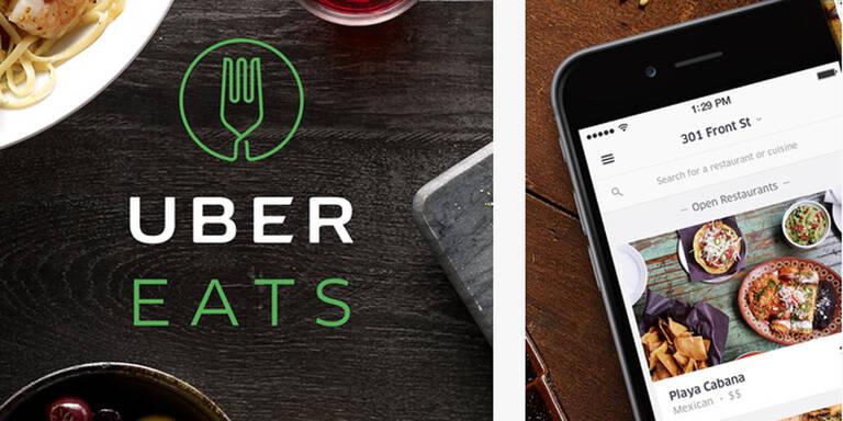 Uber stellt jetzt Essen in Wien gratis zu
