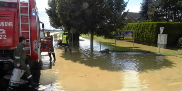Gewitter überflutete mehrere Orte