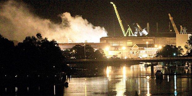 Atom-U-Boot geht in Flammen auf