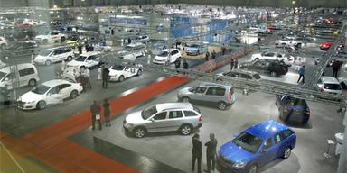 Insgesamt sind über 300 Neuwagen ausgestellt.