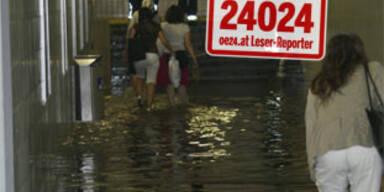 Überschwemmungen in Ostösterreich