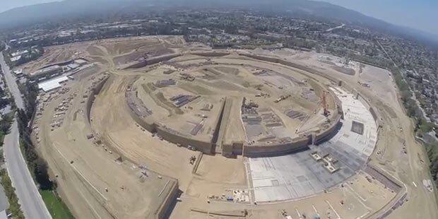 Drohne zeigt Apples Ufo-Hauptquartier