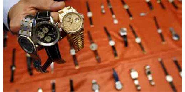 Polizei stellt massenhaft Luxusuhren sicher