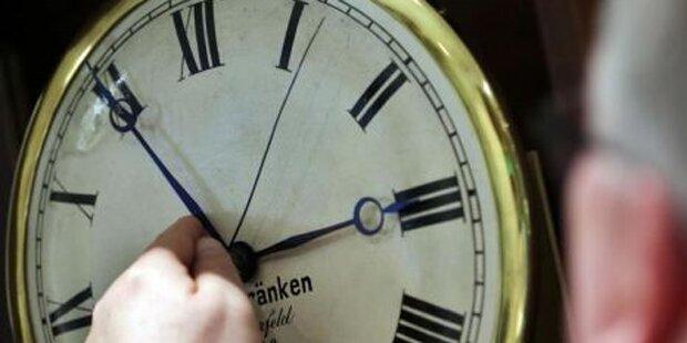 Uhr wird heute eine Stunde vorgestellt