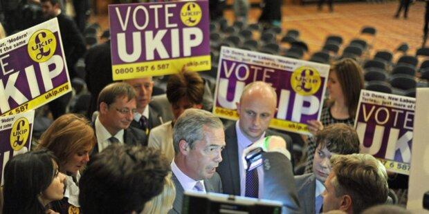 Erdrutschsieg für Rechte in Großbritannien
