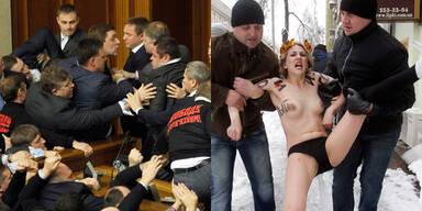 Kiew Parlament Femen