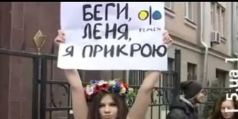 Nackte Frauenprotestler schlagen wieder zu