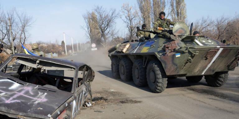 Elf Tote bei Kämpfen in der Ostukraine