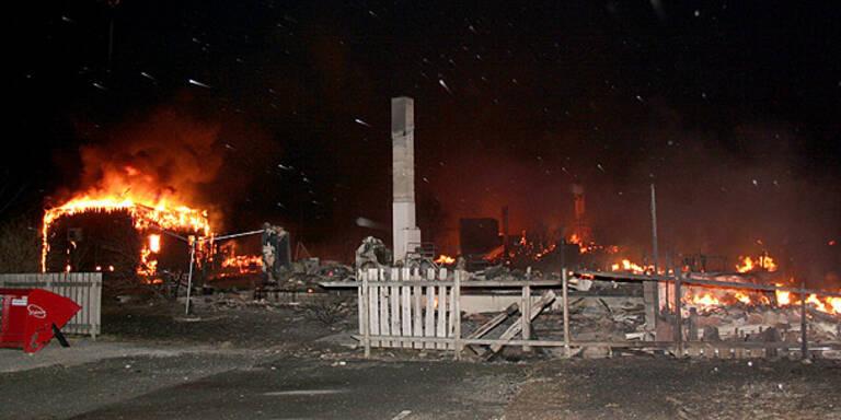 Großbrand vernichtet UNESCO-Weltkulturerbe