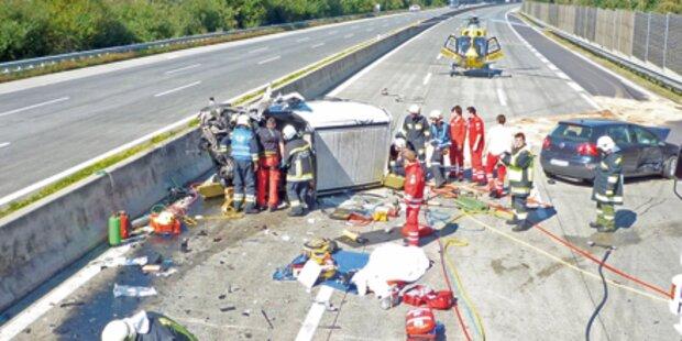 4 schwere Unfälle sorgten für Mega-Staus
