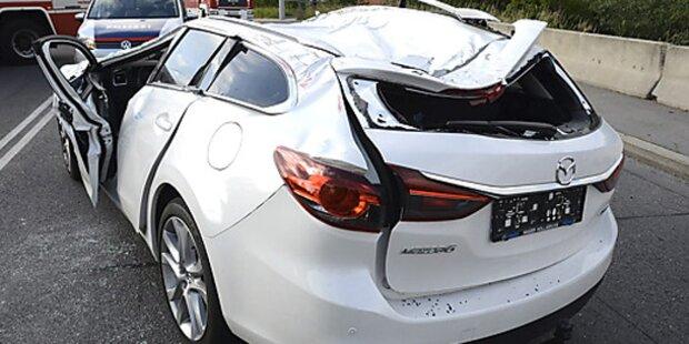 Spektakulärer Verkehrsunfall in Wien