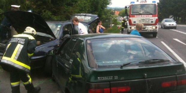 Spektakulärer Unfall bei Amstetten