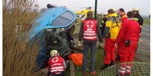 Burgenländerin überlebte spektakulären Autounfall