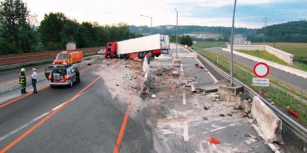 Lkw-Crash: Chaos auf der A9