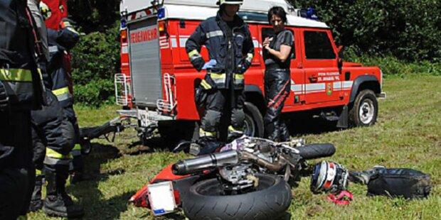 Biker wurde bei Unfall Bein abgerissen