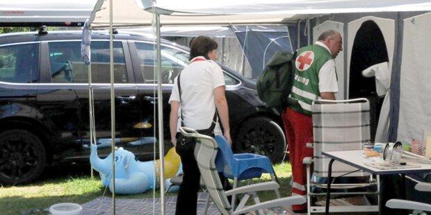 Horror-Unfall: Tante überrollt Baby