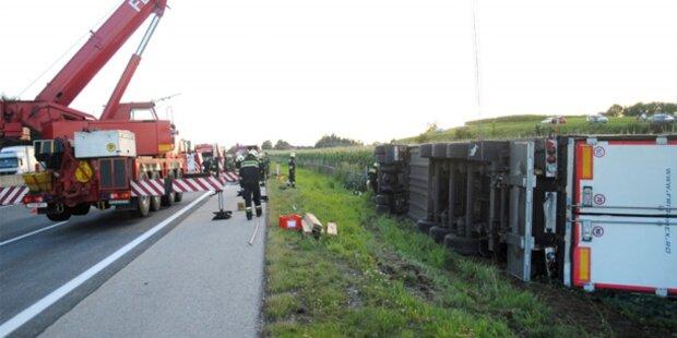 Lkw-Unfall sorgte für Stau auf der A1