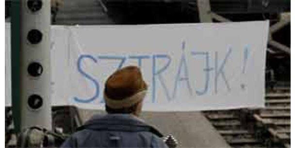 Neuerlich Bahnstreik in Ungarn