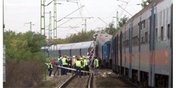 Vier Tote bei Zugunfall in Ungarn