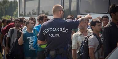 Ungarn setzt Tränengas gegen Flüchtlinge ein