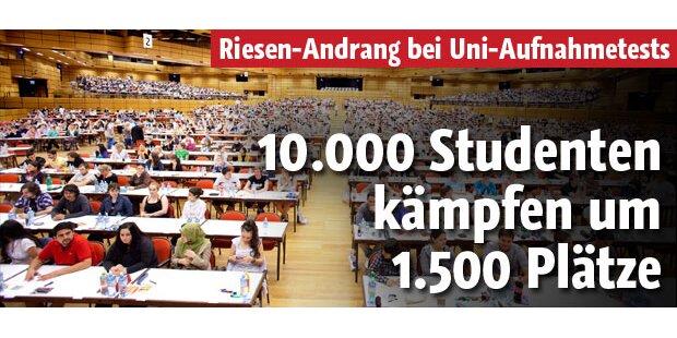10.500 Studenten kämpfen um 1.500 Plätze