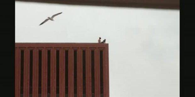 Studenten treiben es auf dem Uni-Dach