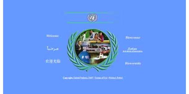 Attacke auf Webseite der UNO