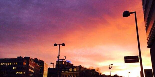 Surrealer Sonnenuntergang begeisterte Wien