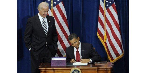 Obama unterzeichnete Rekord-Konjunkturpaket