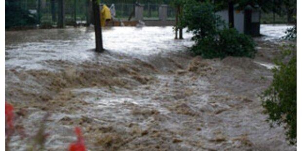 Teile des Landes standen in der Nacht unter Wasser