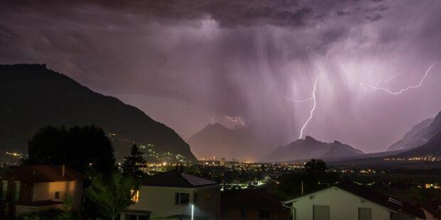 Schwere Gewitter in ganz Österreich