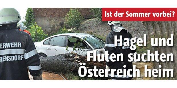 Hagel und Fluten suchen Österreich heim