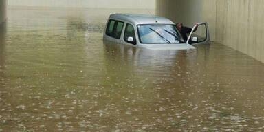 Erneut zogen schwere Unwetter über Österreich