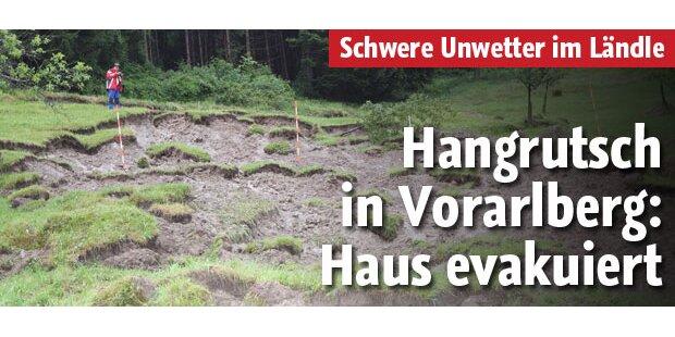 Hangrutsch in Vorarlberg - Haus evakuiert