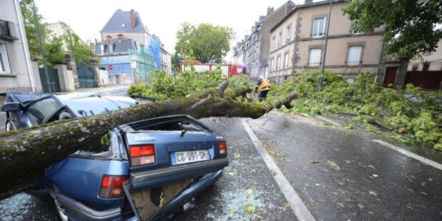 Zwei Tote bei Unwetter in Frankreich