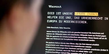 Neues Urheberrecht: Wikipedia 1 Tag offline