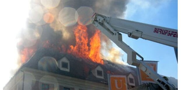Großbrand wütete im Linzer Ursulinenhof