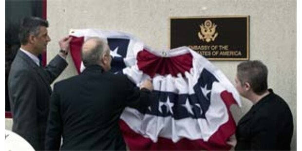 USA eröffneten Botschaft in Pristina