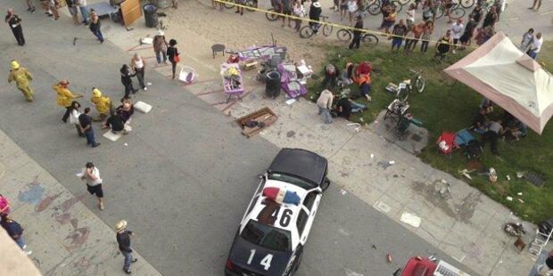 Fahrer raste in Menge am Venice Beach