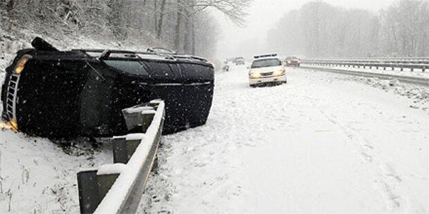 USA: Winterwetter sorgt für Verkehrschaos