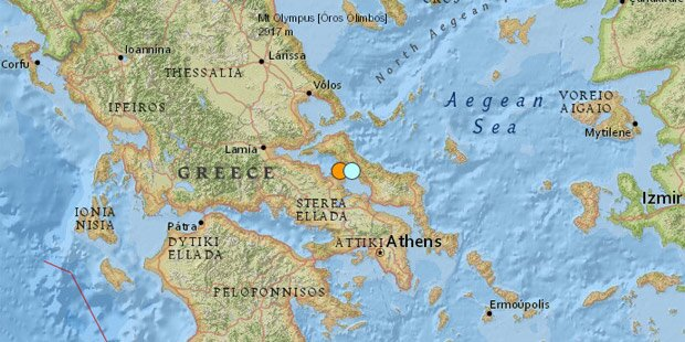 Schwere Erdbeben in Griechenland