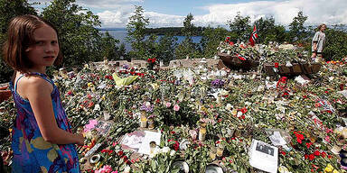 Blumenmeer vor der Insel Utöya