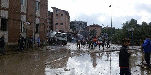 Schwere Unwetter verwüsten Teile Italiens