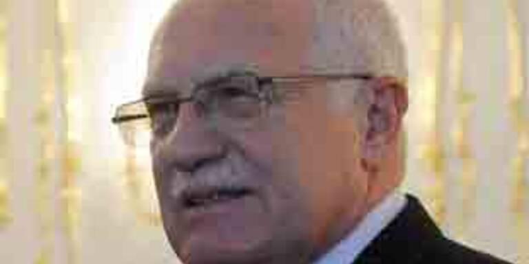 Atomgegener-Protest gegen Václav Klaus