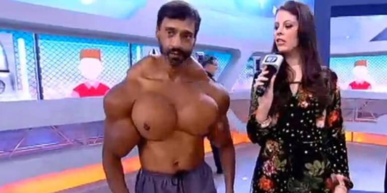 Dieser Bodybuilder ging etwas zu weit