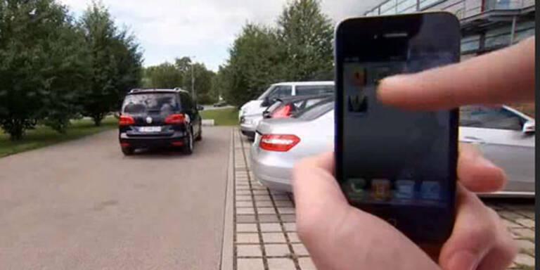 Automatisches Einparken mit dem Smartphone