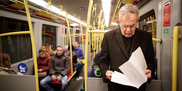 Van der Bellen ist U-Bahn-Fan
