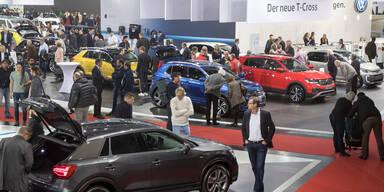Großer Ansturm auf die Vienna Autoshow