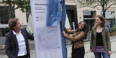 Wien baut neues Fußgängerleitsystem