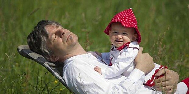 Papa-Monat: Rekord bei Väter-Karenz